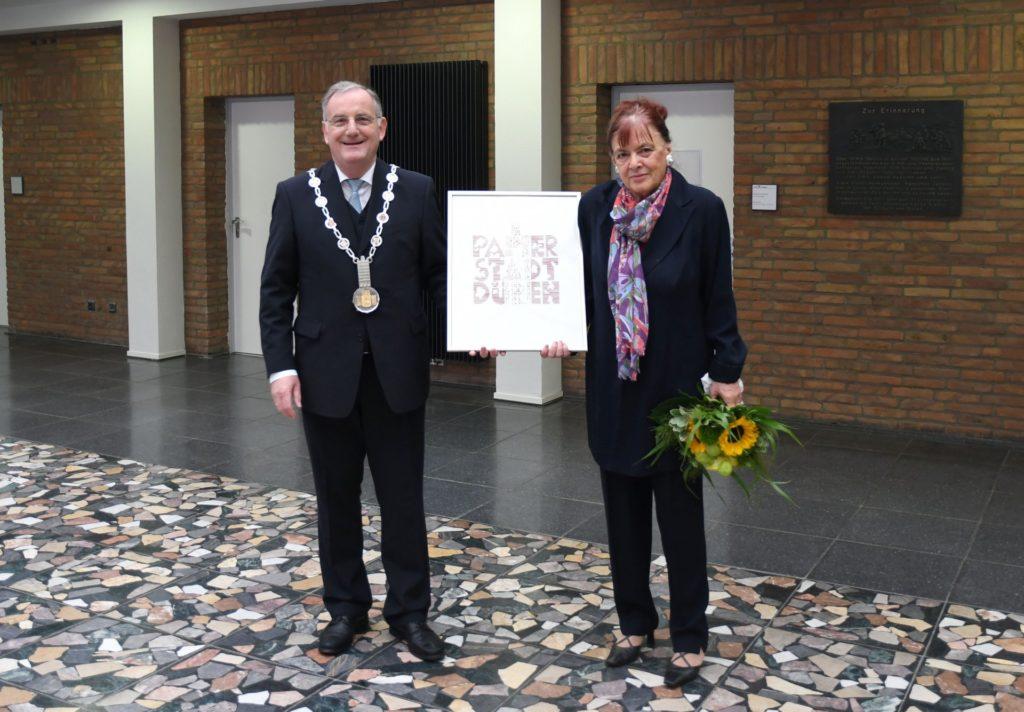 Bürgermeister Paul Larue und Heidemarie Meier-Grass