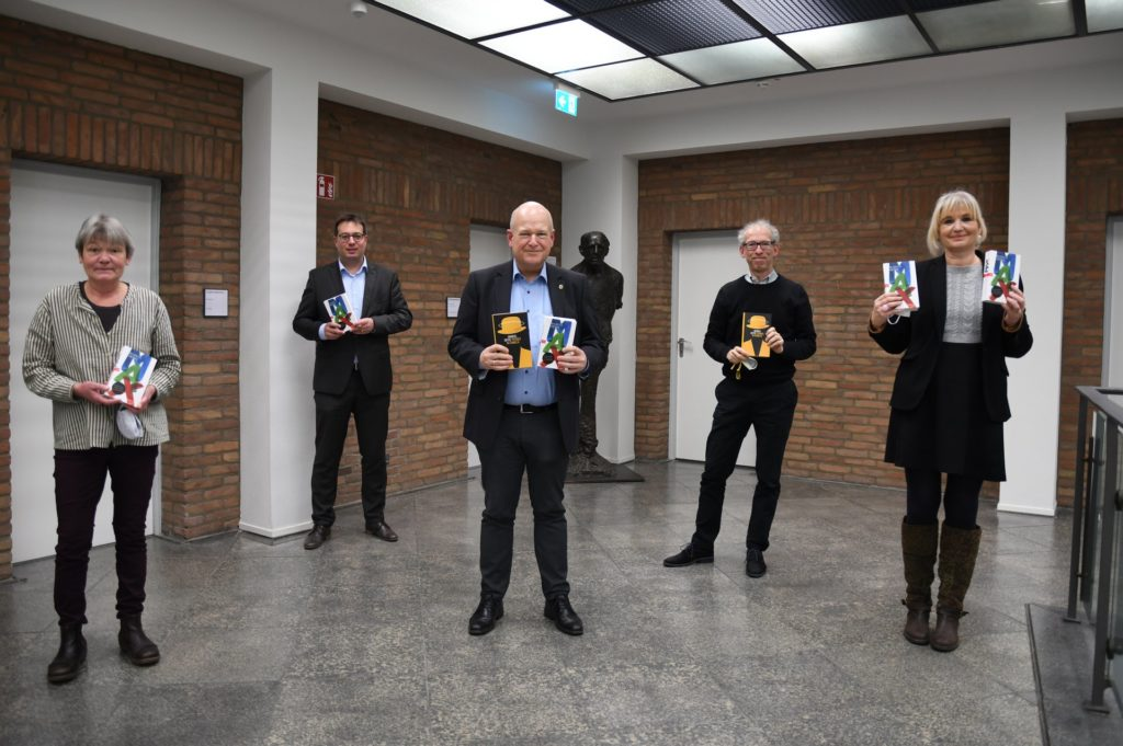 (v.l.n.r.) Verena Schloemer, Dr. Stefan Cuypers, Bürgermeister Frank Peter Ullrich, Prof. Dr. Michael Braun und Drs. Gabriele Gellings