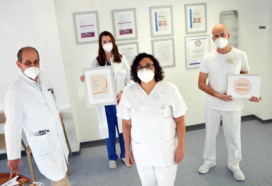 Das Team des Diabeteszentrums im Krankenhaus Düren freut sich über die erneute Zertifizierung durch die Deutsche Diabetes Gesellschaft.