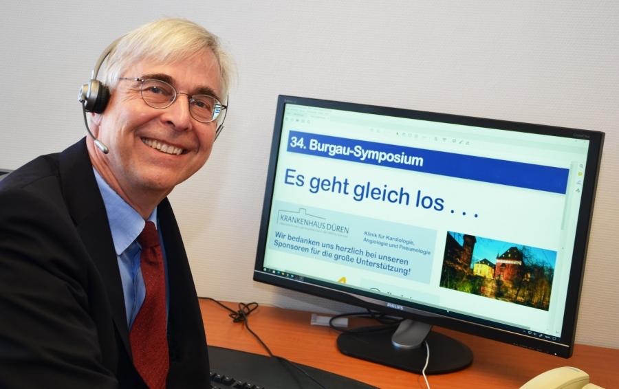 Dr. Hermann Roth freut sich über die erfolgreiche Online-Premiere einer traditionsreichen Veranstaltung: Die 34. Auflage war die erste digitale Ausgabe des Burgau-Symposiums.