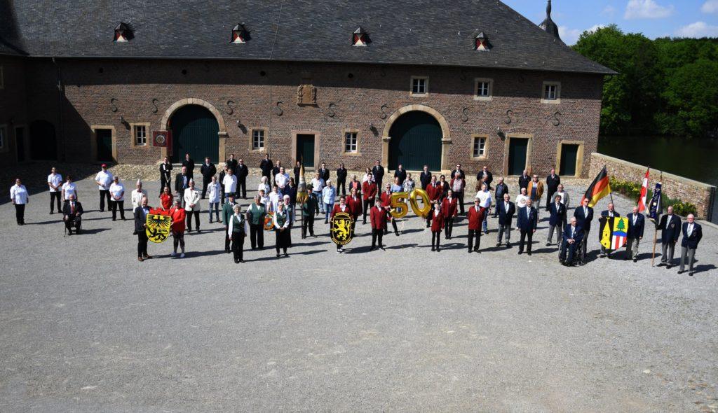 Ein digitaler Geburtstagsgruß ging von Schloss Burgau aus nach Altmünster.