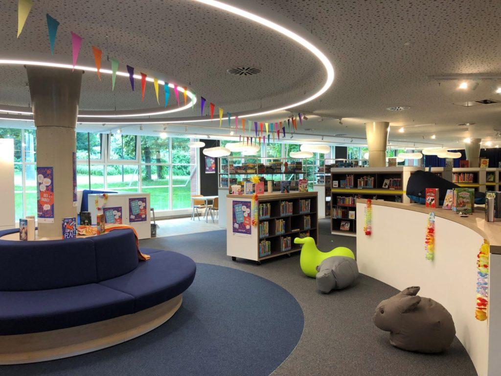 Ein Blick in die neuen Räume der Kinderbücherei